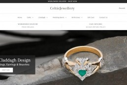 Shopify web design for Celtic Jewellery