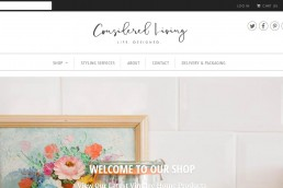Shopify web design for Considered Living