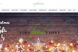 Shopify web design for Fine Food Store