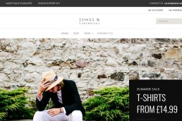 Shopify web design for Jones & Cartwright