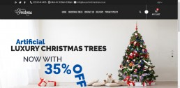 Shopify web design for Luxury Christmas Trees