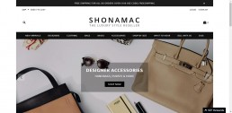 Shopify web design for Shonamac.com