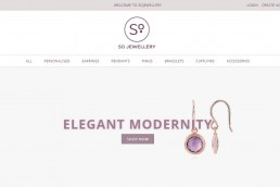 Shopify web design for So Jewellery