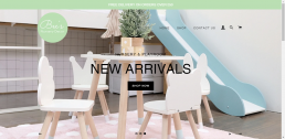 Shopify web design for Bec's Nursery Decor