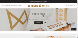 Shopify web design for Brosé Wine