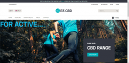Shopify web design for R3 CBD