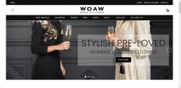 Shopify web design for WOAW Fashion