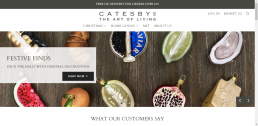 Shopify web design for Catesbys