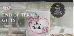 Shopify web design for Precious Personalised Gifts