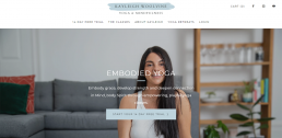 Shopify web design for Kayleigh Woolvine Embodied Yoga